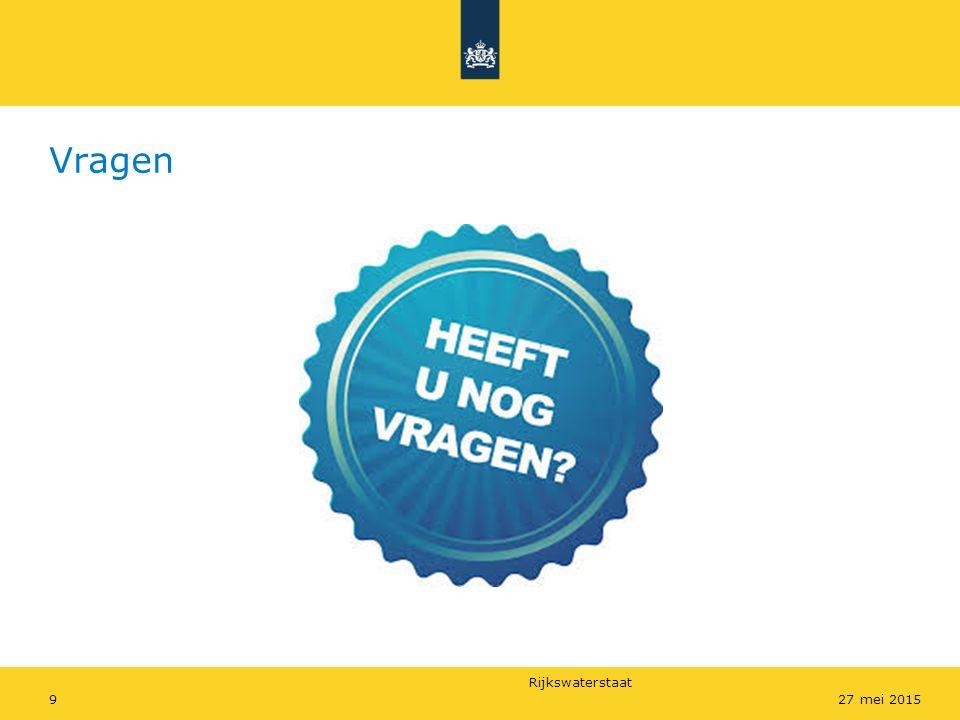 Rijkswaterstaat Vragen 927 mei 2015