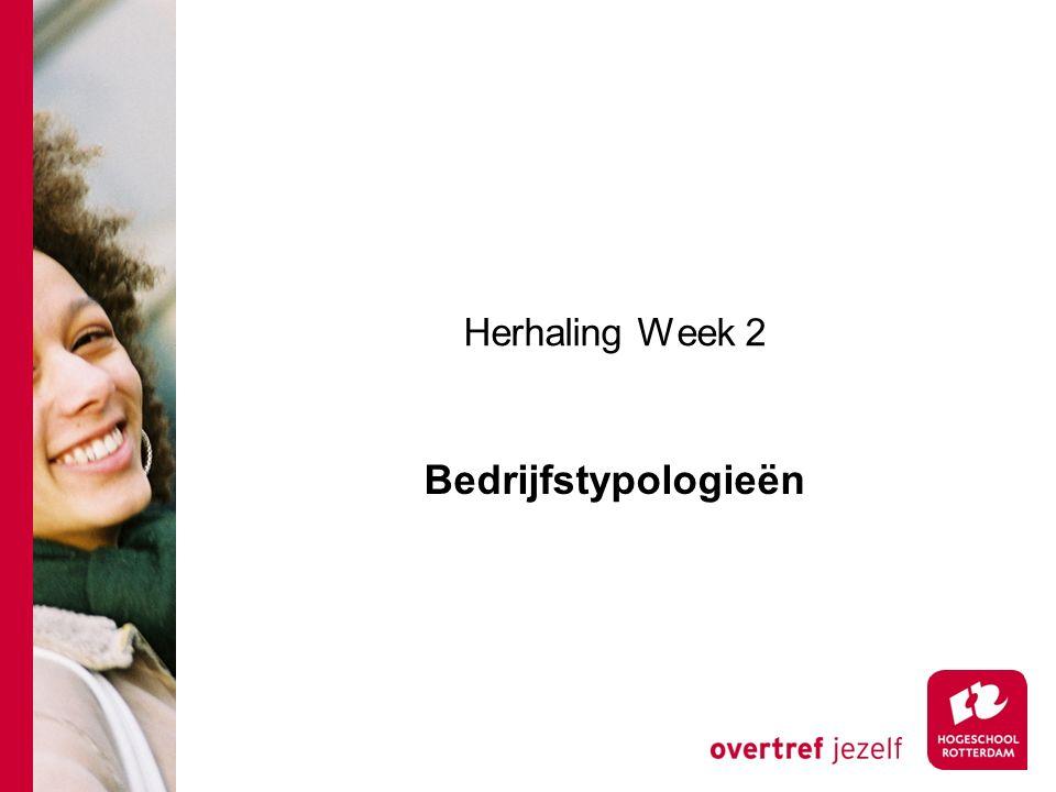 Herhaling Week 2 Bedrijfstypologieën