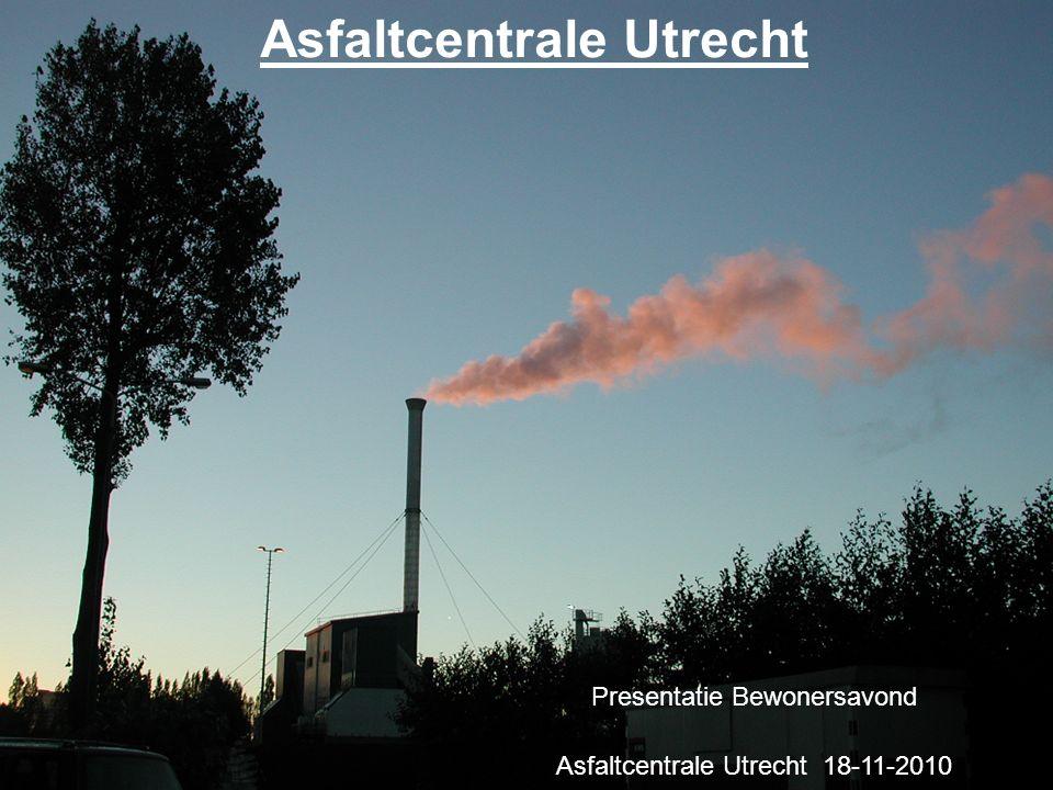 Asfaltcentrale Utrecht Presentatie Bewonersavond Asfaltcentrale Utrecht 18-11-2010