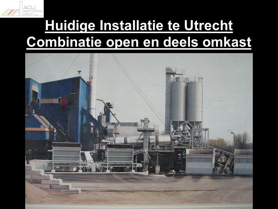Huidige Installatie te Utrecht Combinatie open en deels omkast