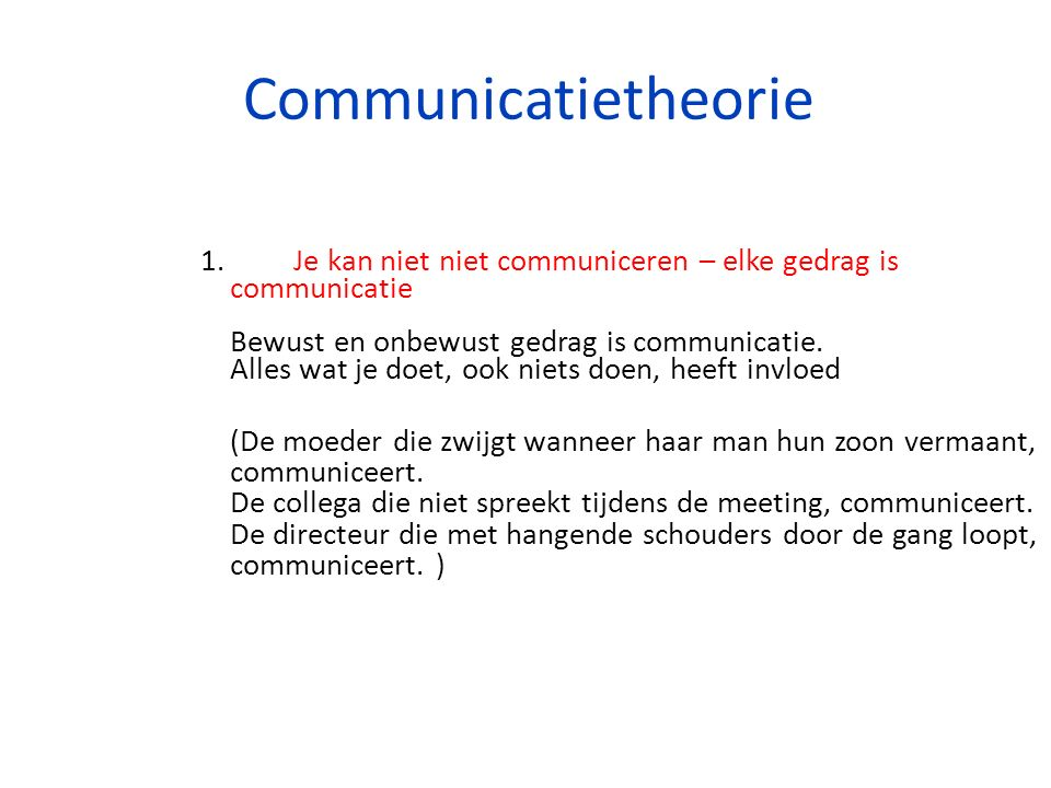 Communicatietheorie 1.