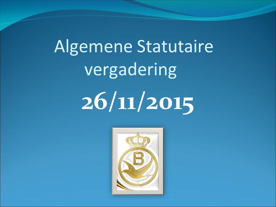 26/11/2015 Algemene Statutaire vergadering