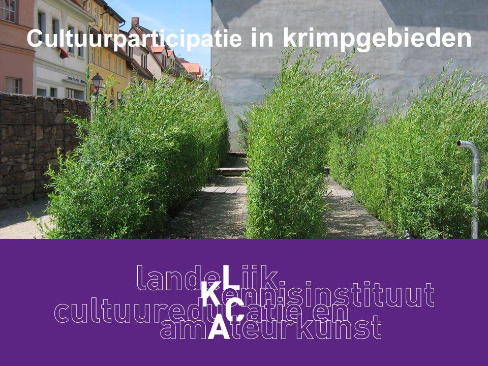 Welkom door LKCA Ingrid Docter Projectleider Cultuurparticipatie en Krimp