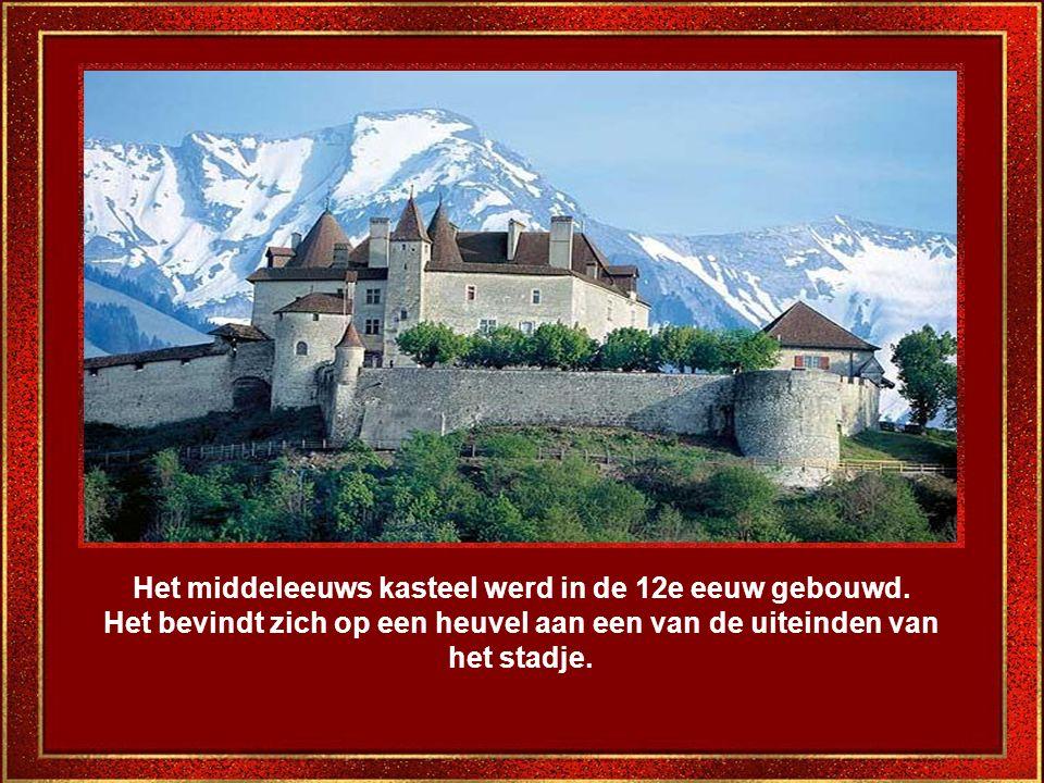 Op weg naar het kasteel kan men de voorgevels van de antieke en zeer elegante huizen bewonderen.
