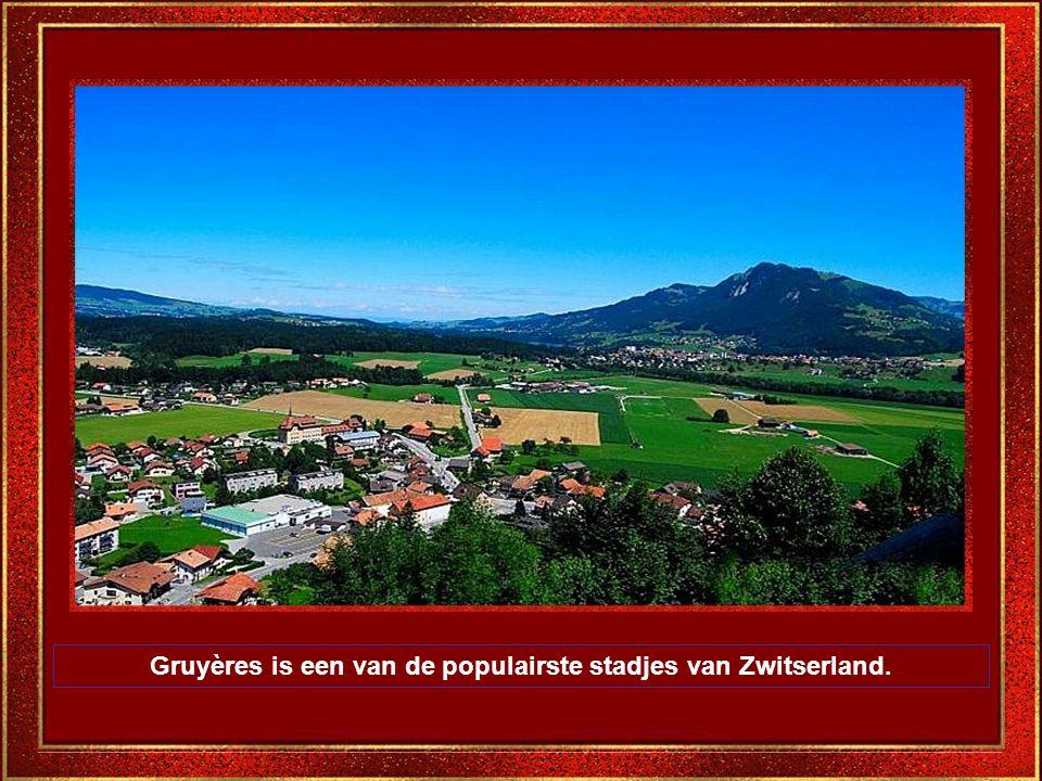 Gruyères is een van de populairste stadjes van Zwitserland.