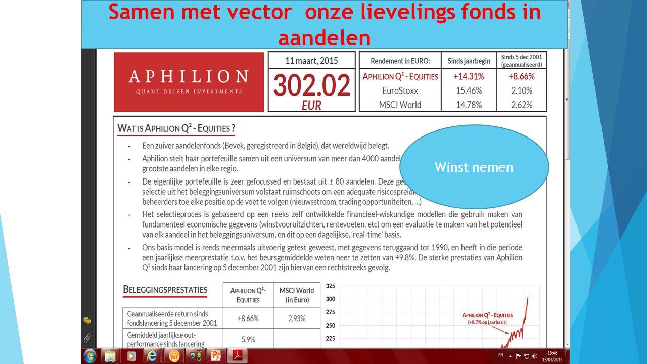 10/01/2016 31 Samen met vector onze lievelings fonds in aandelen Winst nemen