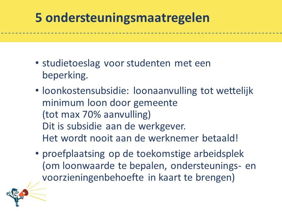 5 ondersteuningsmaatregelen studietoeslag voor studenten met een beperking.