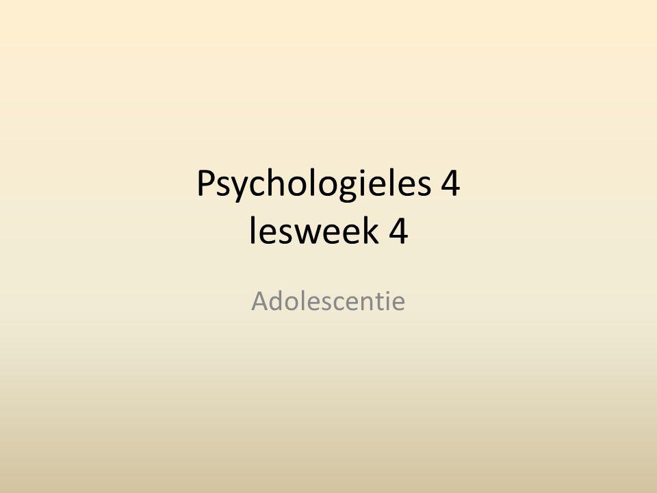 Psychologieles 4 lesweek 4 Adolescentie