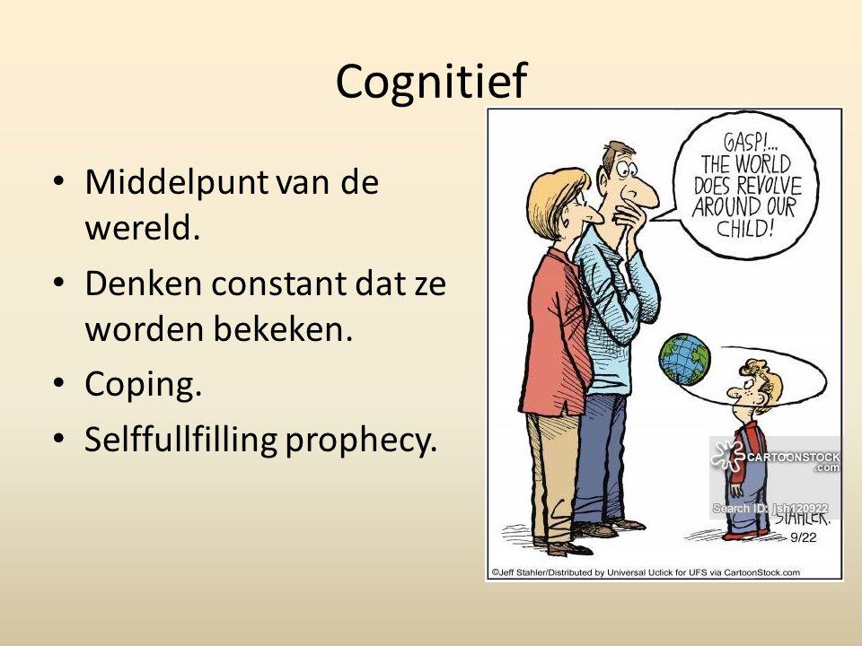 Cognitief Middelpunt van de wereld.Denken constant dat ze worden bekeken.