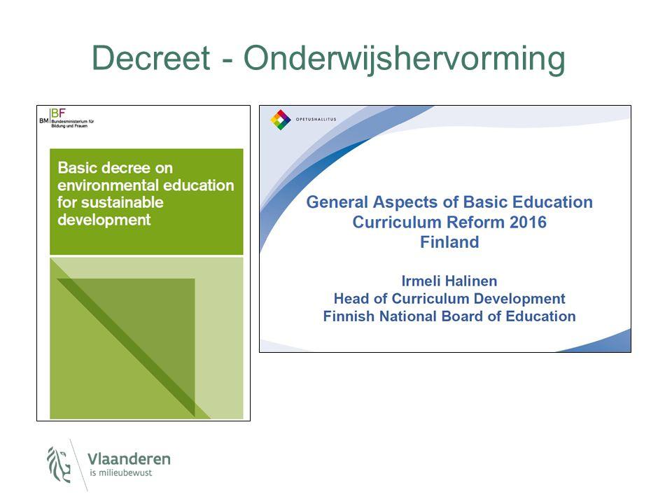 Decreet - Onderwijshervorming