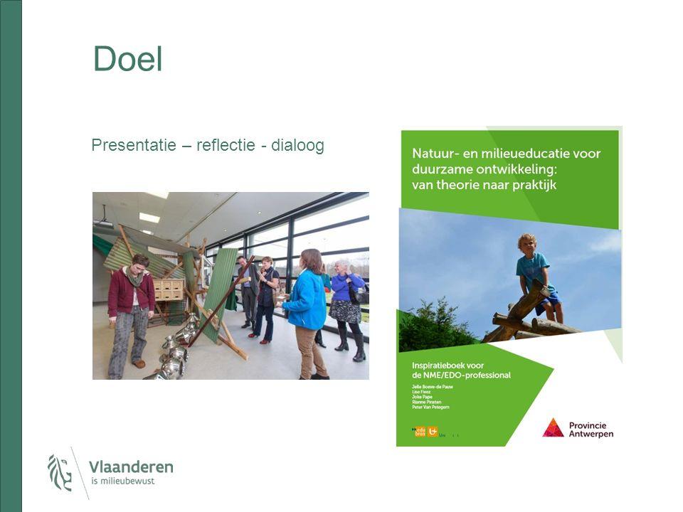 Doel Presentatie – reflectie - dialoog