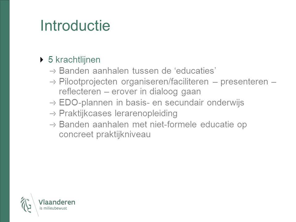 Programma 10 u.Een stand van zaken van EDO in Vlaanderen (Jürgen) 11.15 u.