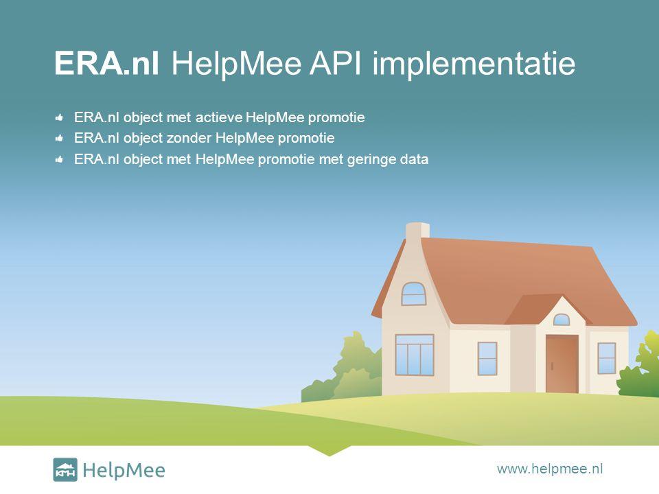 ERA.nl object met HelpMee promotie met geringe data ERA.nl HelpMee implementatie www.helpmee.nl