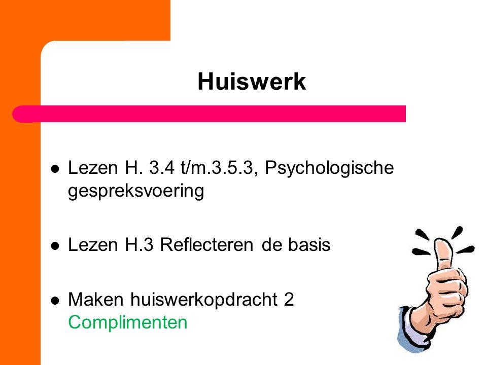 Huiswerk Lezen H.