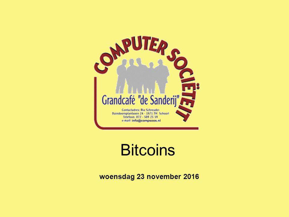 Bitcoins woensdag 23 november 2016