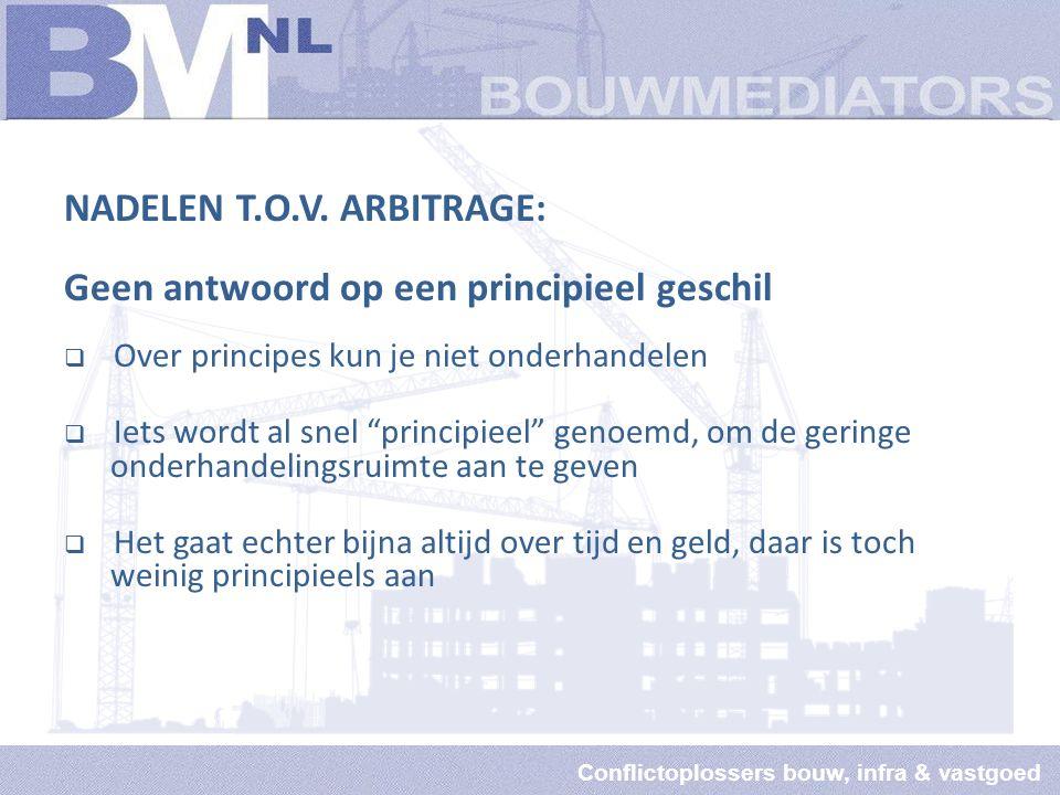Conflictoplossers bouw, infra & vastgoed NADELEN T.O.V.