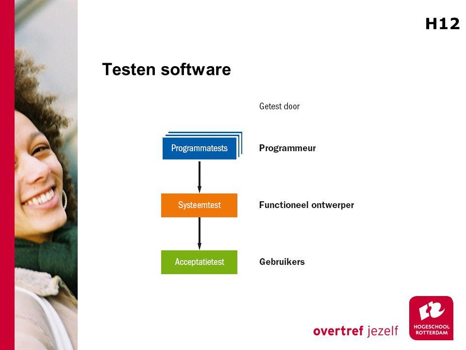 Testen software H12