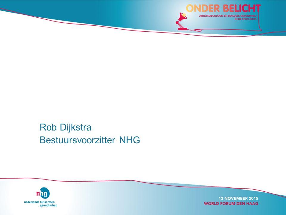 Rob Dijkstra Bestuursvoorzitter NHG