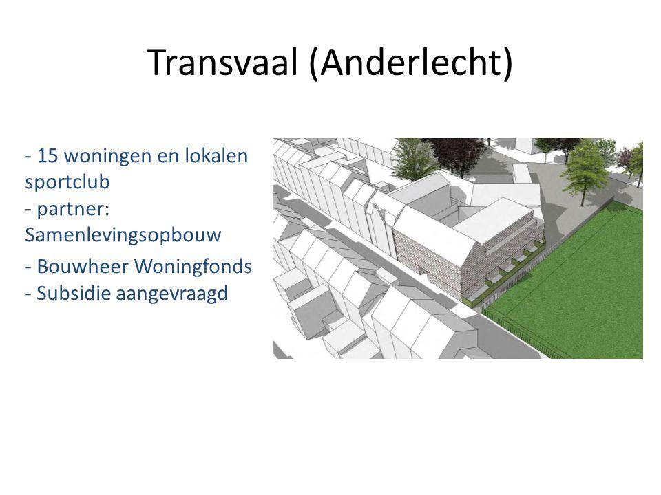 Transvaal (Anderlecht) - 15 woningen en lokalen sportclub - partner: Samenlevingsopbouw - Bouwheer Woningfonds - Subsidie aangevraagd