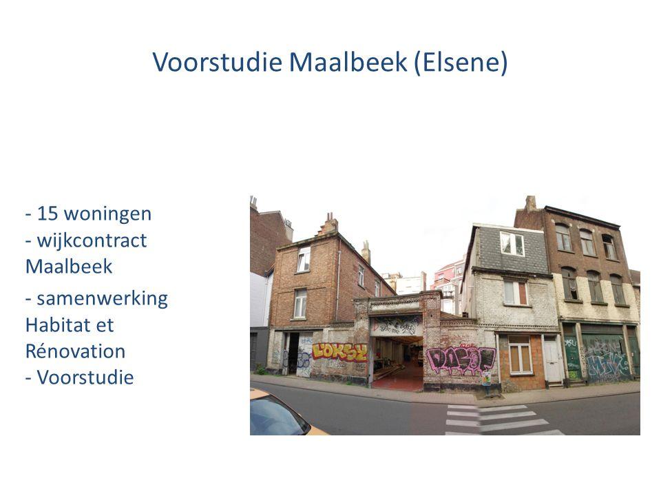 Voorstudie Maalbeek (Elsene) - 15 woningen - wijkcontract Maalbeek - samenwerking Habitat et Rénovation - Voorstudie