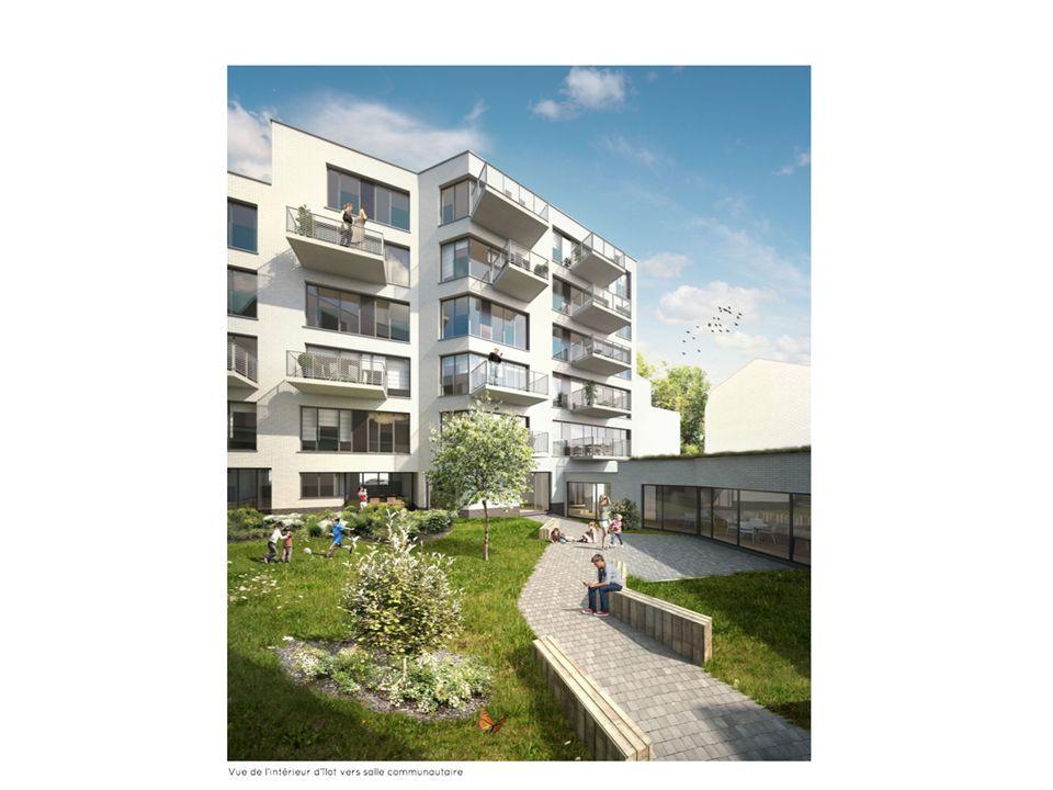 Pilootproject Verheyden (Anderlecht) - 7 woningen + buurttuin en lokaal - Groep le Nid , samen met Samenlevings- opbouw - Stedenbouwkundige vergunning ontvangen, project aanbesteed - bouwheer: burgerlijke maatschap le Nid