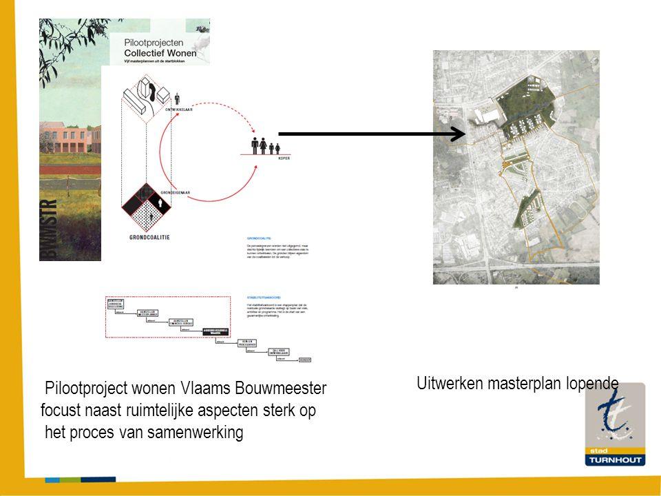 Pilootproject wonen Vlaams Bouwmeester focust naast ruimtelijke aspecten sterk op het proces van samenwerking Uitwerken masterplan lopende