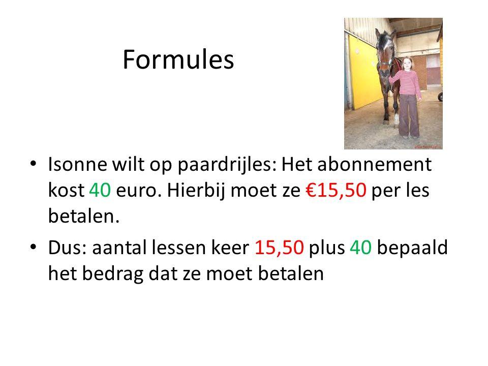 Formules Isonne wilt op paardrijles: Het abonnement kost 40 euro.