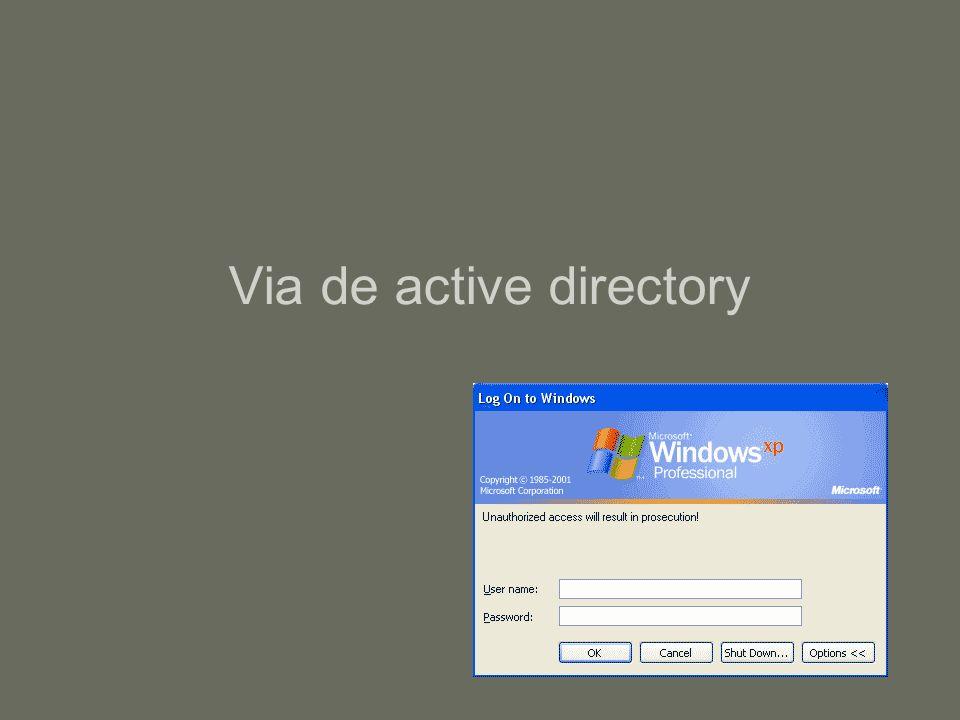 Via de active directory