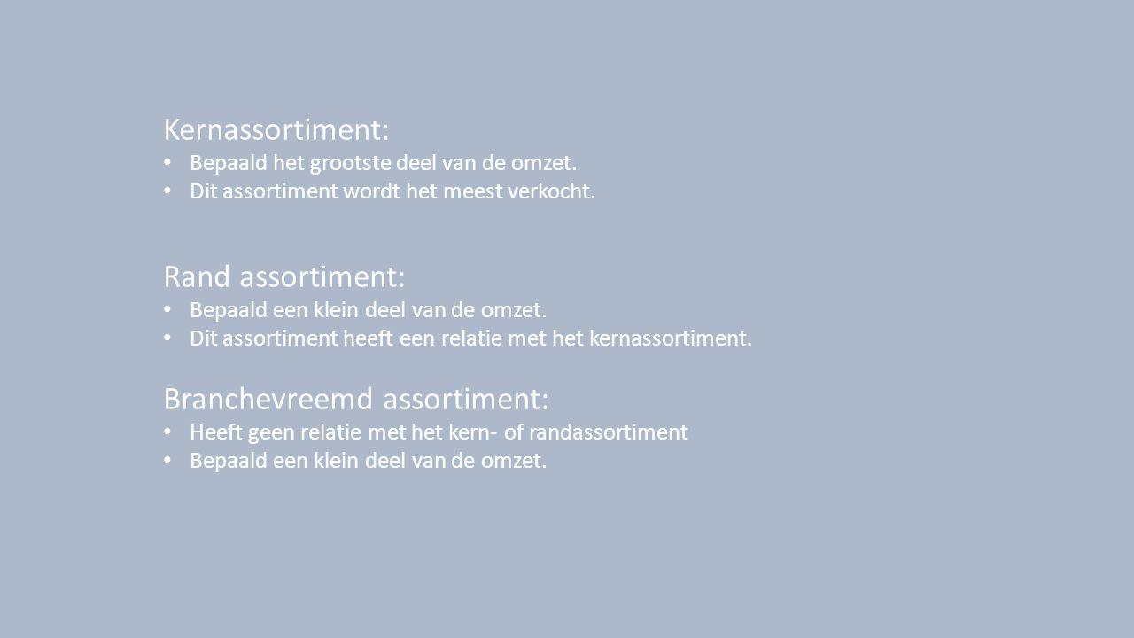 Proefassortiment: Assortiment dat tijdelijk wordt opgenomen om te kijken of het toegevoegd kan worden aan het kernassortiment.