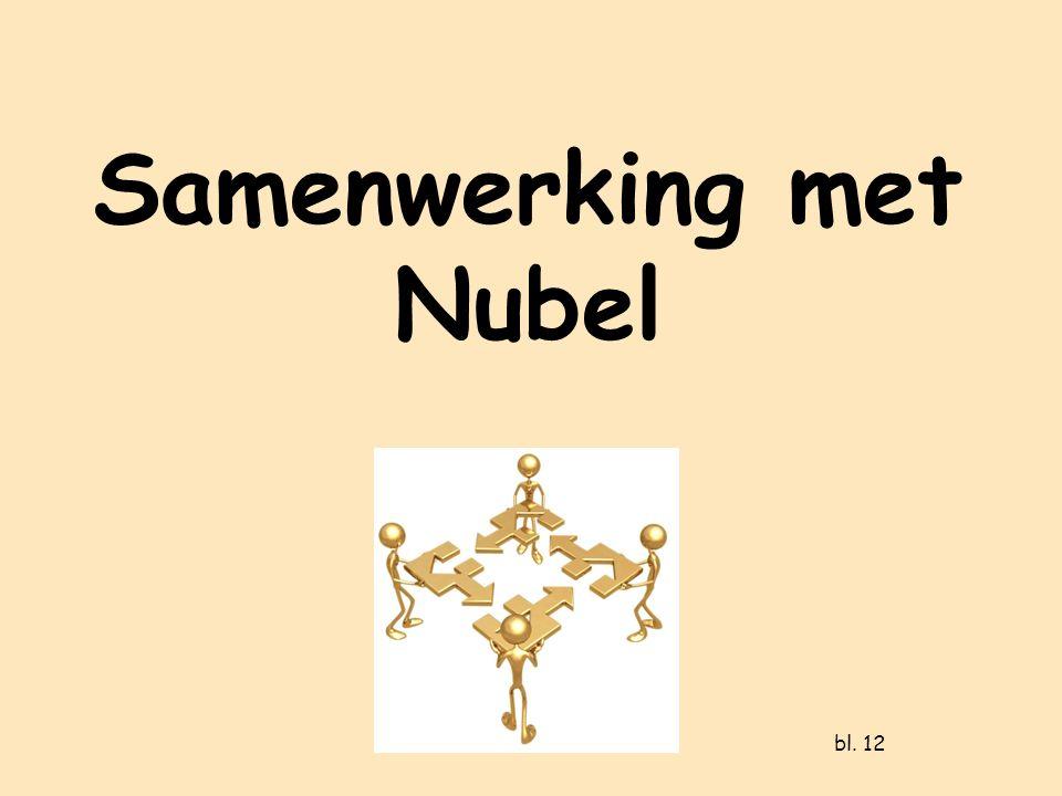Samenwerking met Nubel bl. 12
