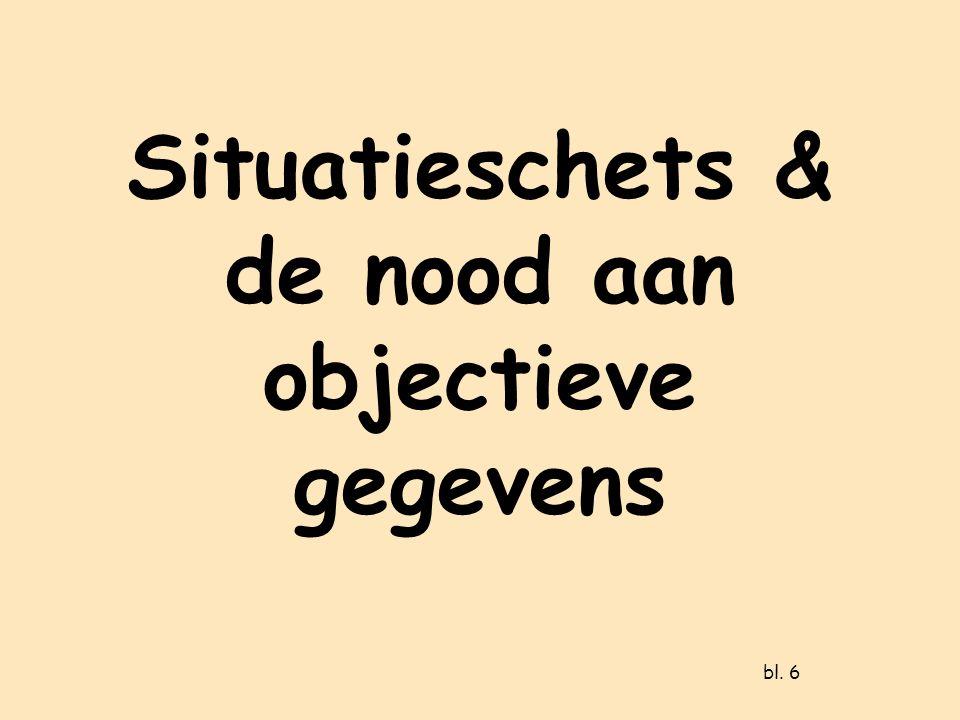 Situatieschets & de nood aan objectieve gegevens bl. 6