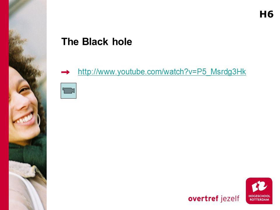 The Black hole http://www.youtube.com/watch?v=P5_Msrdg3Hk H6
