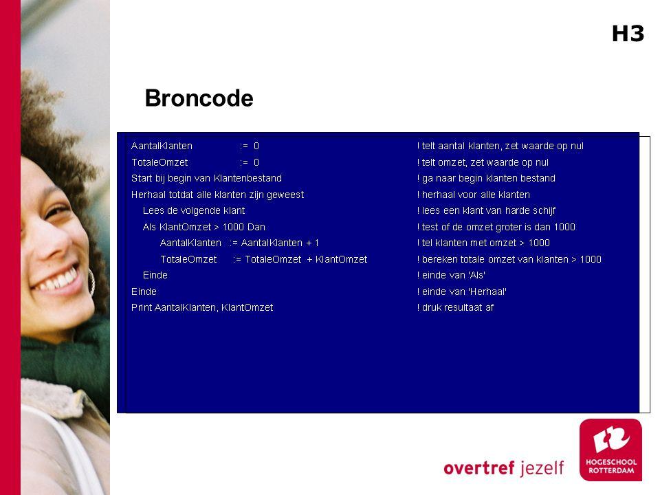 Broncode H3