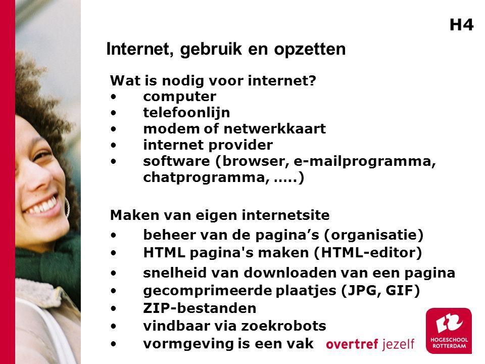 Internet, gebruik en opzetten Wat is nodig voor internet.