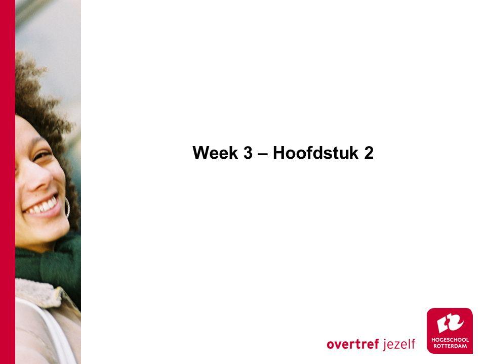 Week 3 – Hoofdstuk 2