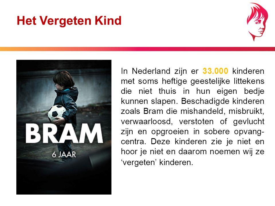 In Nederland zijn er 33.000 kinderen met soms heftige geestelijke littekens die niet thuis in hun eigen bedje kunnen slapen.