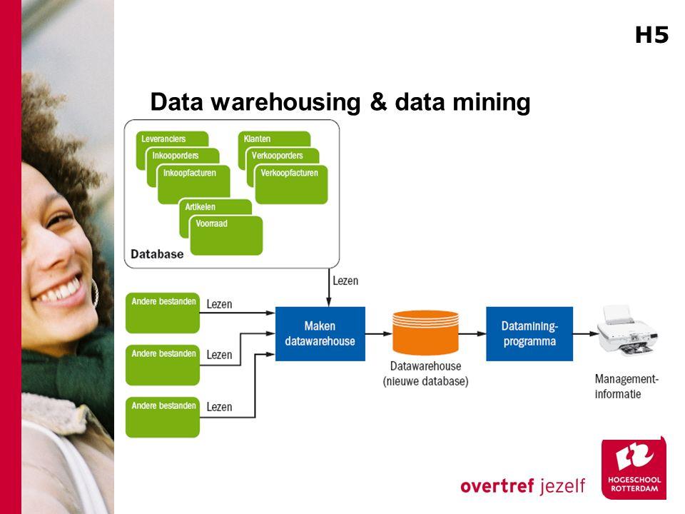 Data warehousing & data mining H5