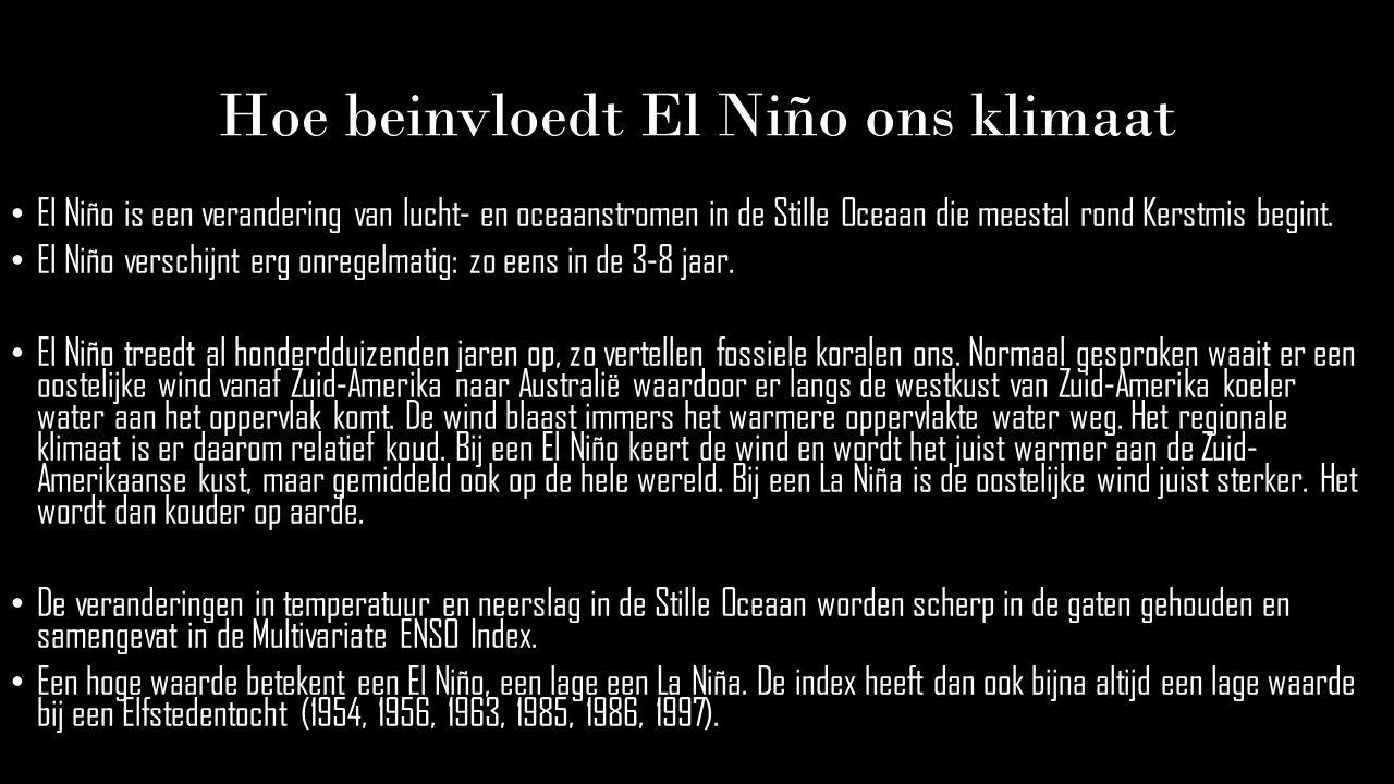 Conclusie El Niño en La Niña hebben een groot effect op het wereldklimaat.