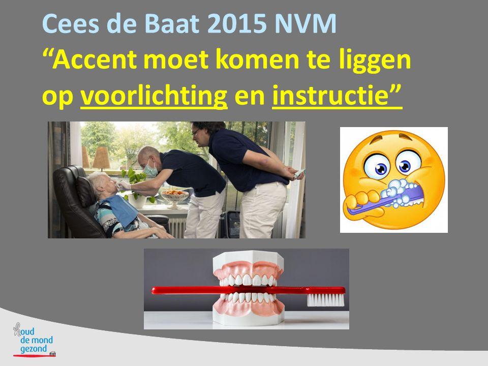 """Cees de Baat 2015 NVM """"Accent moet komen te liggen op voorlichting en instructie"""""""