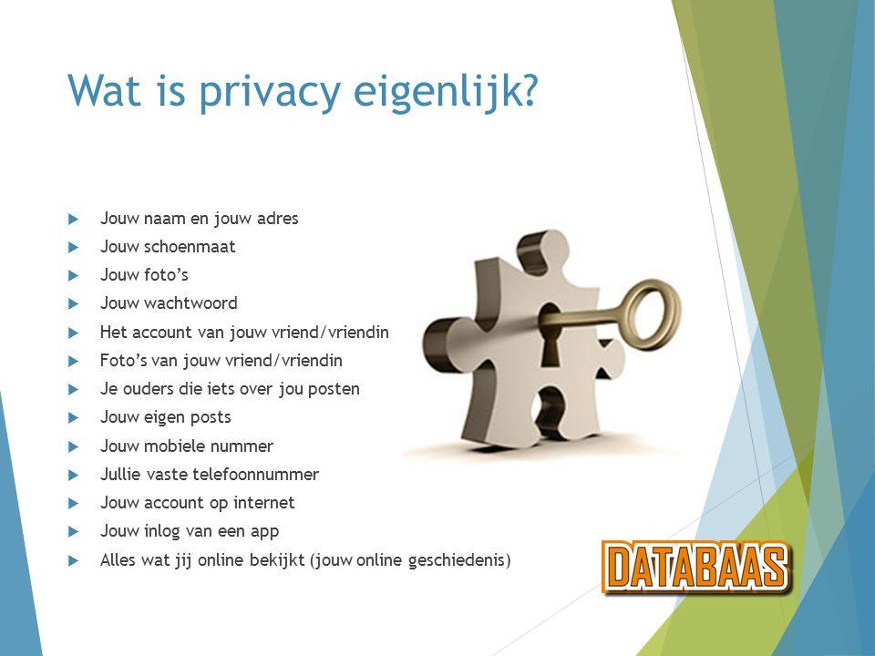 Wat is privacy eigenlijk.