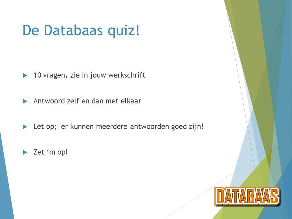 De Databaas quiz.
