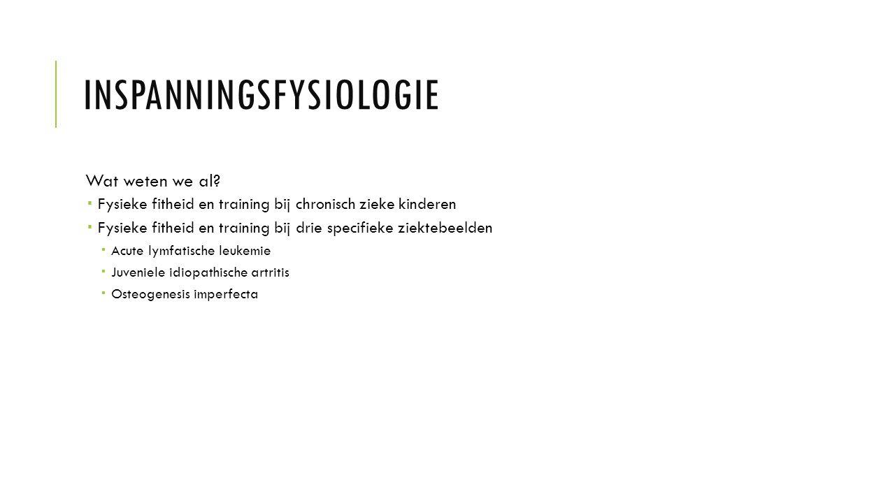 INSPANNINGSFYSIOLOGIE Wat weten we al.