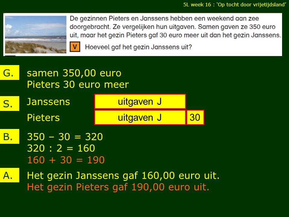samen 350,00 euro Pieters 30 euro meer G. B. A.