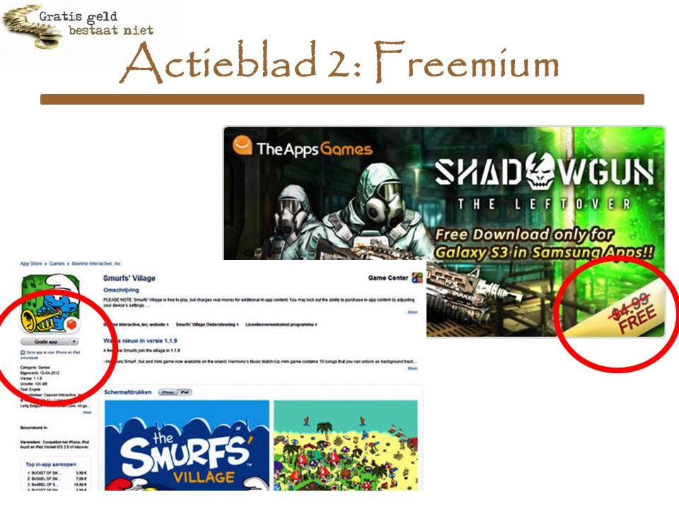 Actieblad 2: Freemium