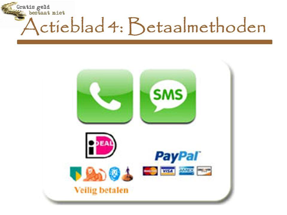 Actieblad 4: Betaalmethoden