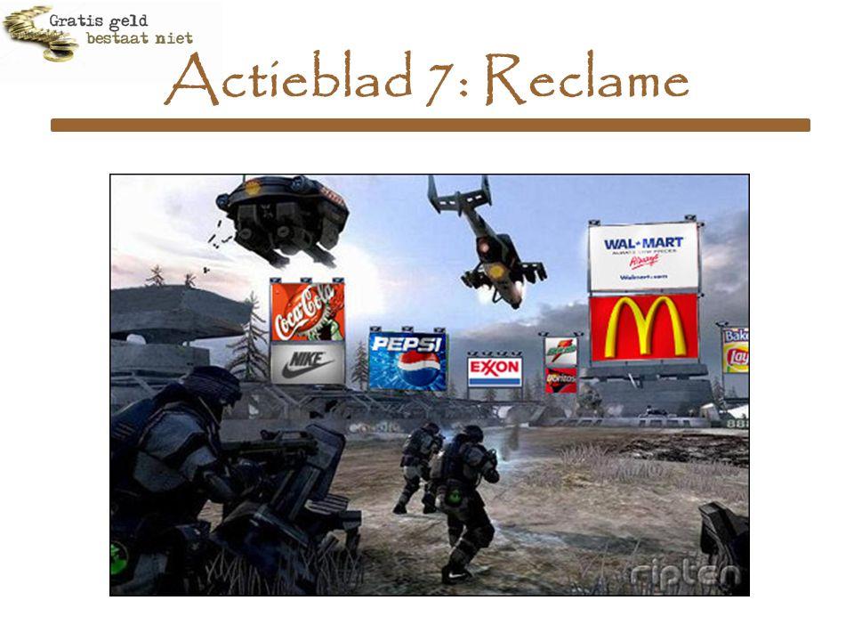Actieblad 7: Reclame
