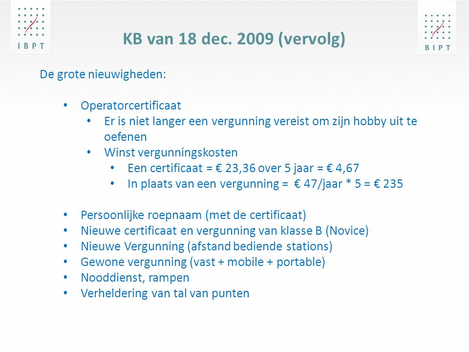 KB van 18 dec.