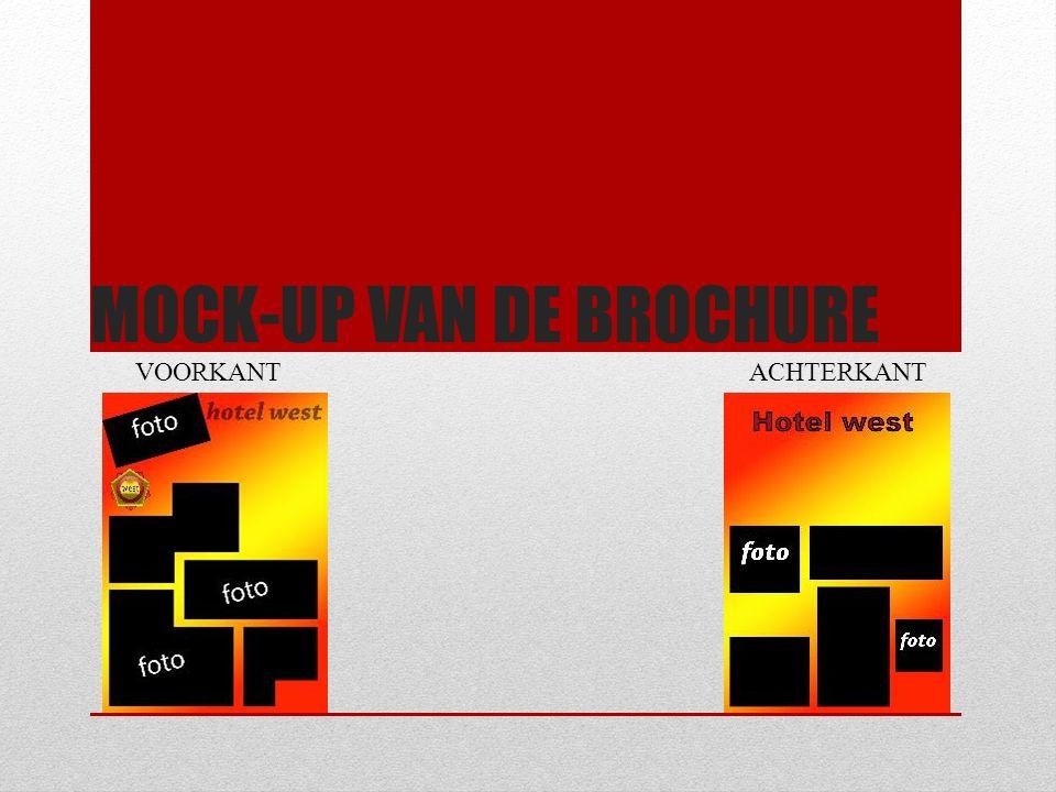 MOCK-UP VAN DE BROCHURE VOORKANTACHTERKANT