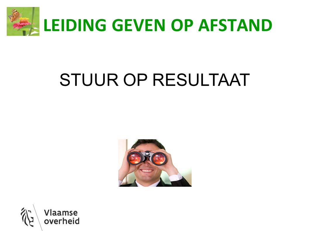 LEIDING GEVEN OP AFSTAND STUUR OP RESULTAAT