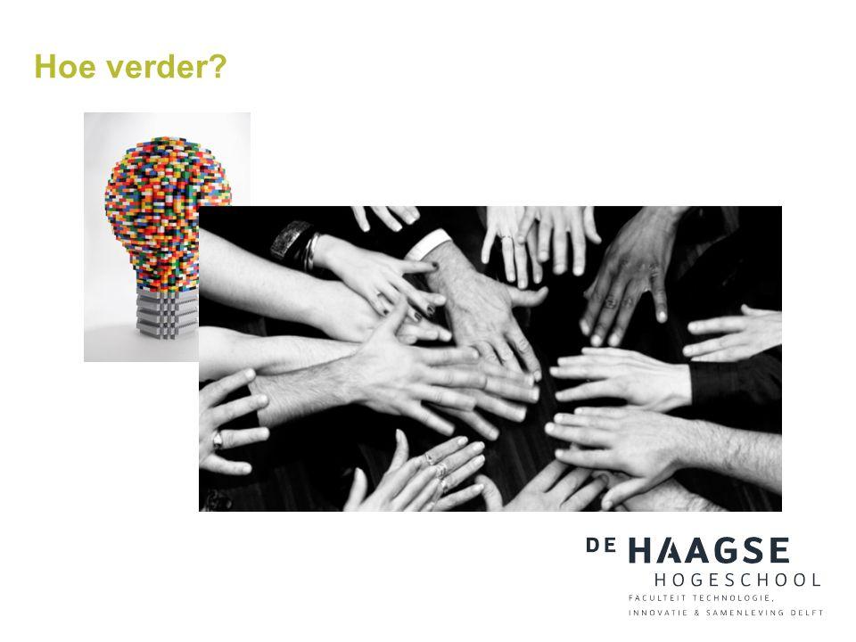 De Haagse Hogeschool Faculteit Technologie, Innovatie & Samenleving, Delft m.j.w.zijderveld@hhs.nl www.dehaagsehogeschool.nl Bedankt